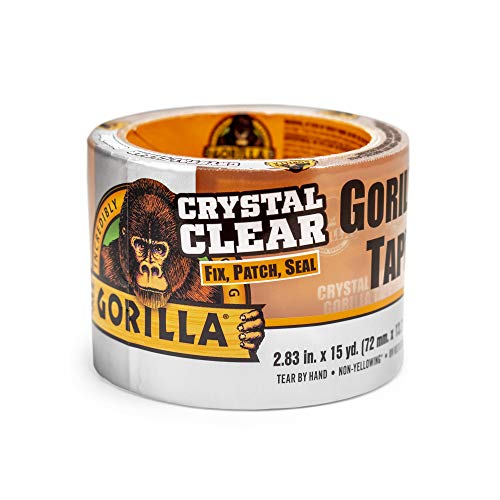 Gorilla Crystal Clear Duct Tape Tough & Wide, 2.88' x 15 yd (Pack of 1),101277