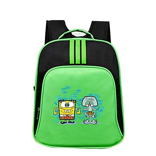 Spongebob Squarepants Freizeitrucksack Kinder-Freizeit-Rucksack Große Kapazität Schulranzen modischer Entwurf Daypack for Jungen und Mädchen Unisex (Color : A31, Size : 40 X 32 X 14cm)