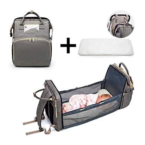 MARXIAO 3 in 1 Baby-Wickeltasche, Bewegliche Wickeltische Mama-Beutel Faltbare Babybett Bett Baby Nest Mit Matratze