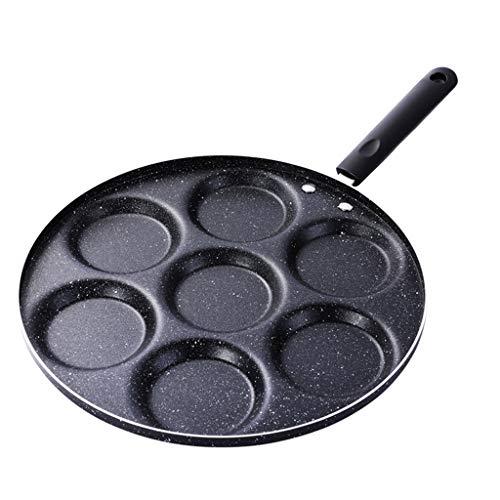 7 agujeros Huevos Olla para freír Tortilla Sartén Antiadherente Huevo Panqueque Filete Tortilla Sartenes Cocina Cocina Desayunador Sartén de parrilla de doble cara