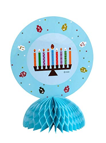 ISRAEL GIFT Hanukkah Party Centerpiece Table Topper Table Decorations Menorah Design 13 inches Tall