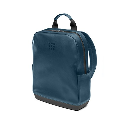 Moleskine (Classic Small Backpack, kleine laptop rugzak compatibel met computer, laptop, notebook en iPad tot 15'', afmeting 32 x 42 x 11 cm, staalblauw