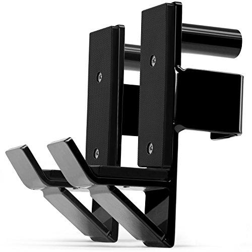 Yes4All J-Hooks Barbell Holder for Power Rack - J Hook Weight Rack / Fitness Racks J Hook - Fit 2x2 inch Square Tube (Pair)