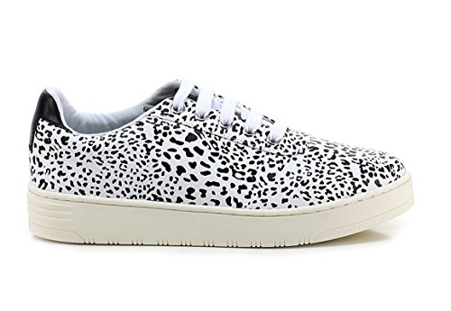 Jeffrey Campbell JC Play BY Lace UP Leo Black-White (41)