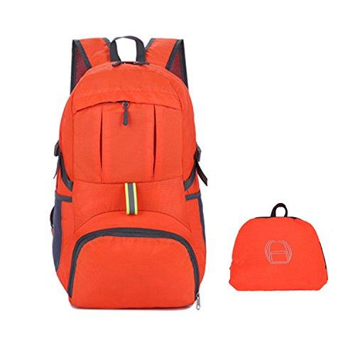 NOTAG 登山リュック バックパック アウトドアザック 折りたたみ リュックサック 防撥水 バックパック アルパインパック 超軽量 ポケッタブル バッグ クライミングバックパック 35L 大容量 多機能 旅行 Mountaineering backpack(オレンジ)
