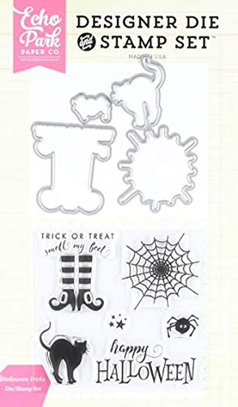 Echo Park Paper Company EPDIE/STAMP47 Halloween Tricks Die/Stamp Set