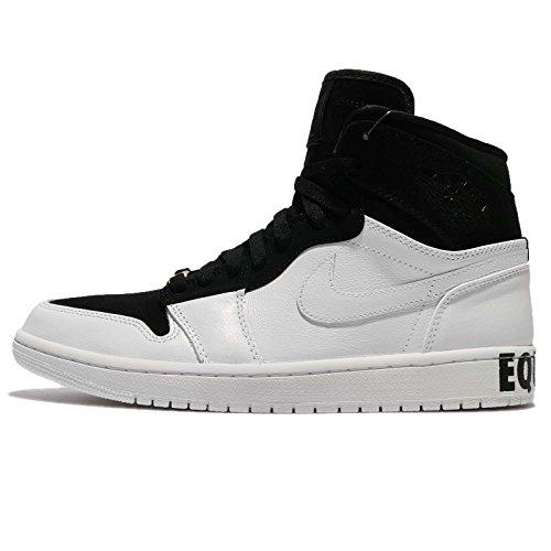 Jordan Air 1 Retro Hi Equality, Zapatillas de Deporte Hombre, Multicolor (Black/White Me 001), 43 EU