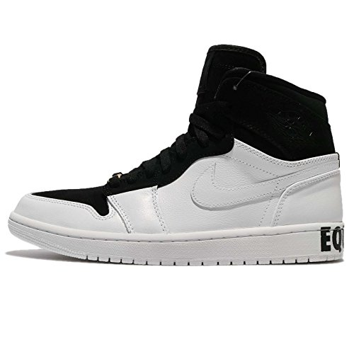 Jordan Air 1 Retro Hi Equality, Zapatillas de Deporte para Hombre, Multicolor (Black/White Me 001), 43 EU