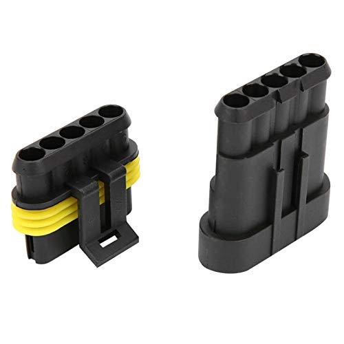 Conector de cable 4P 5P 6P Latón estañado Impermeable Enchufe de automóvil Accesorios eléctricos para camiones Reemplazo automotriz(5P)
