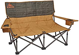 Kelty Low-Love Seat Camping Chair, Canyon Brown/Belluga – Portable, Folding Chair for Festivals, Camping and Beach Days - Updated 2019 Model