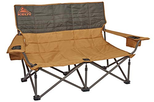 Kelty Low-Love Seat Camping Chair, Canyon Brown/Belluga – Portable, Folding...