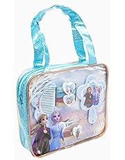Disney Frozen 2-19384 - set di accessori per capelli nella borsetta glitter in PVC, multicolore