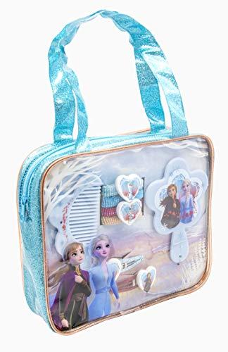 Disney Frozen 19384 2-Haarschmuckset im PVC Glitzertäschchen, Mehrfarbig
