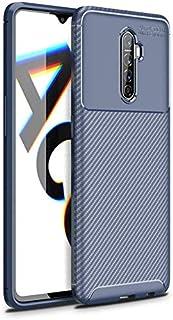 جراب لهاتف Oppo Realme X2 Pro / Reno Ace من المطاط والكربون الناعم غطاء مقاوم للصدمات - أزرق داكن