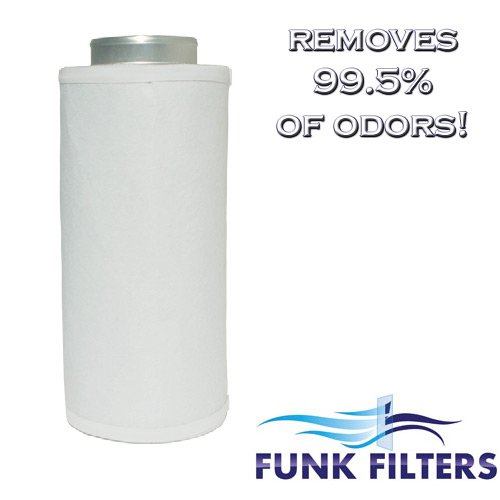 Amazing Deal Funk Filters 4 x 8 Activated Carbon Scrubber Odor Control Filters + Prefilter