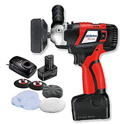 "ACDelco Brushless 2-Speed LIGHTEST 3"" Mini Sander/Polisher Kit,Cordless 20V Li-ion Tool Kit with 2 Battery, Fast Charger, Polishing Accessories, A20 Compact Series, ARS2016 from ACDelco"