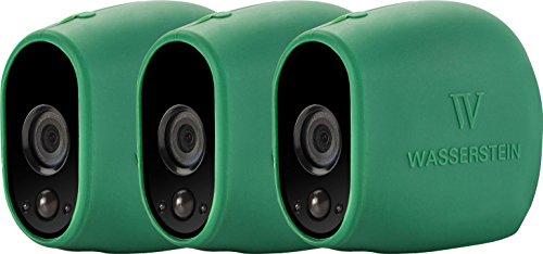 Wasserstein Silikon-Schutzhülle für Arlo Smart Security, 100% kabellose Kameras, 3 Stück, grün, 3 Pack