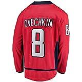 HEMWY Herren/Damen/Jugend_Alexander_Ovechkin_#8_Rot_Sportbekleidung_Ausbildung_Eishockey_Jersey S-XXXL -
