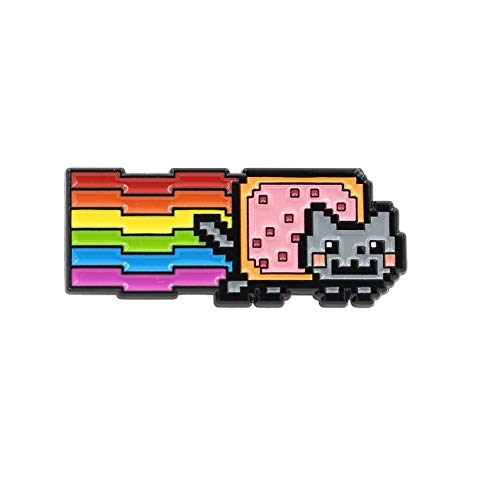 REAL SIC Nyan Cat Enamel Pin - Rainbow Cat With Pop-Tart Meme Pin - LGBT Pride Kawaii Cat Pin for Jackets, Backpacks, Hats, Bags & Tops