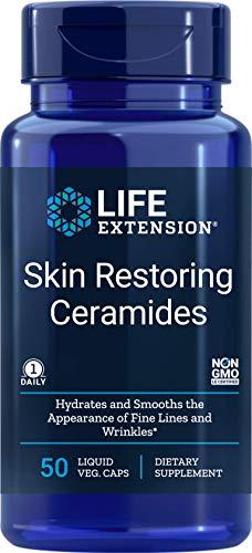 Life Extension Skin Restoring Ceramides, 50 Veg Capsules - Vegan Phytoceramide Supplement