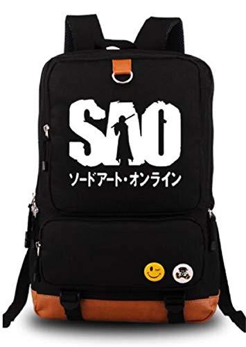 Siawasey Sword Art Online SAO Anime Cosplay luminoso mochila bolsa de hombro bolso de escuela