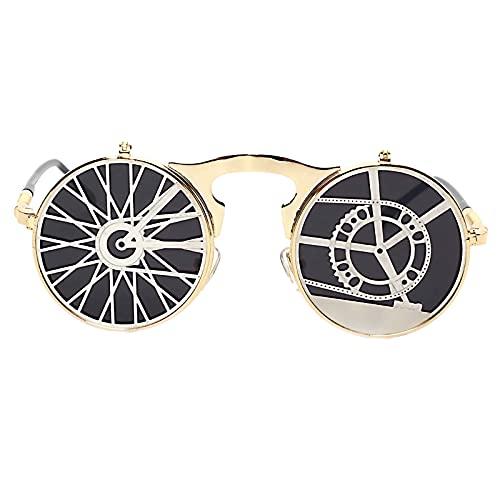 FITYLE Bien Steampunk Retro gafas de sol Vintage gafas Unisex onda fiesta...