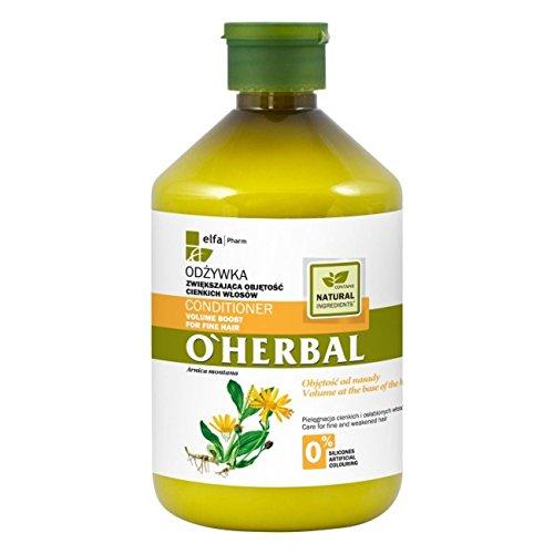 O'Herbal  - Acondicionador Natural Ecológico Volumen para Cabello / Pelo Fino con Extracto de Árnica sin Sulfatos ni Siliconas ni Colorantes  500ml
