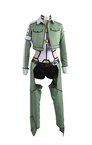Sword Art Online Alfheim Online Sinon Asada Shino Cosplay Kostüm Damen Jacke Grün S