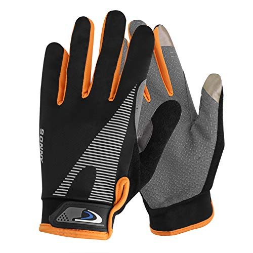 PURFUN Men Women High Elastic Non-Slip Cycling Gloves UV Sun Protection Cool Driving Gloves Mitts Adjustable Mountain Bike Climbing Fishing Short Full Finger Gloves