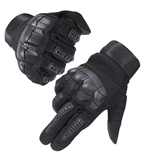HIKEMAN Full Finger Touchscreen Tactical Militär Handschuhe für Männer und Frauen, Harte Knöchel Handschuhe für Jagd, Schießen,...