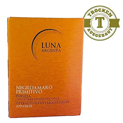 Rotwein Italien Cuvée Negroamaro und Primitivo Luna Argenta Bag in Box trocken (1x5L)