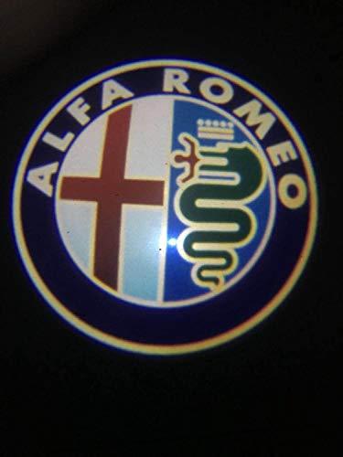 Alfa Romeo LED Light Logo Logo Light Light LED LED Light DE PURTUROS para Alfa Romeo 147 GT Todos los Modelos de automóviles (Emitting Color : D)