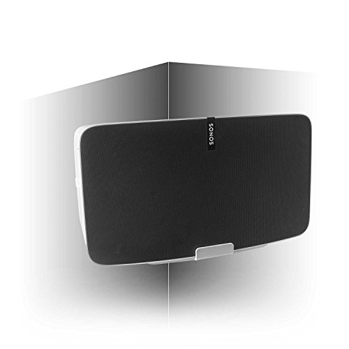 Vebos Corner Wall Mount Sonos Play 5 gen 2 White en Optimal Sound Experience in Every Room - Compatible with SONOS Play:5