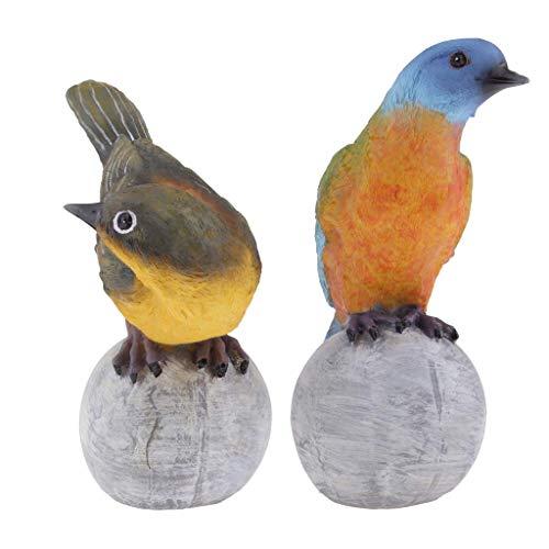 Tubayia - Estatua para jardín (2 Unidades, Resina), diseño de pájaro