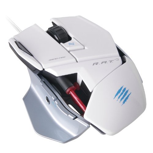 Portable & Gadgets Mad Catz R.A.T.3 Optical Gaming Mouse for PC and Mac Color: White