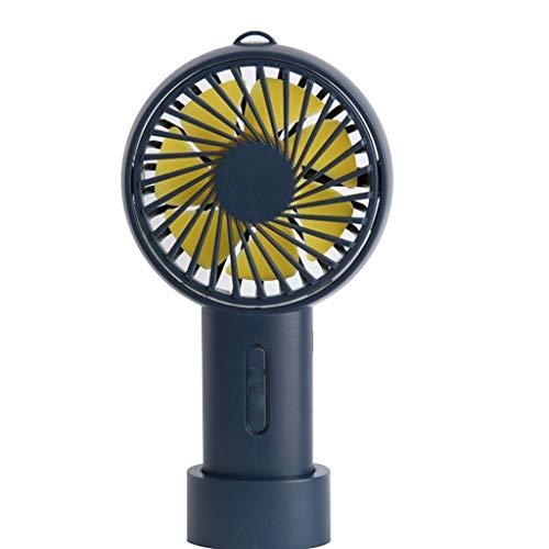 Fanáticos personales Ventilador de mano portátil, Mini ventilador de mano con batería recargable USB, ventilador de mesa de escritorio personal de 3 velocidades, para oficina de oficina al aire libre