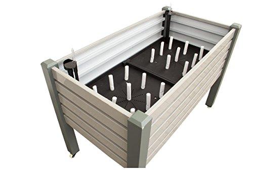 Nativ Beet - [114x60x80 cm] Praktisches Hochbeet für Garten, Terrasse & Balkon - Aluminium Frühbeet als modulares System für Gemüse, Salate & Kräuter - inkl. Bewässerungssystem & Rollen