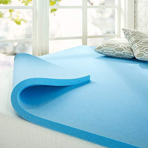 ZINUS 2 Inch Green Tea Cooling Gel Memory Foam Mattress Topper / Cooling Gel Foam / CertiPUR-US Certified, King