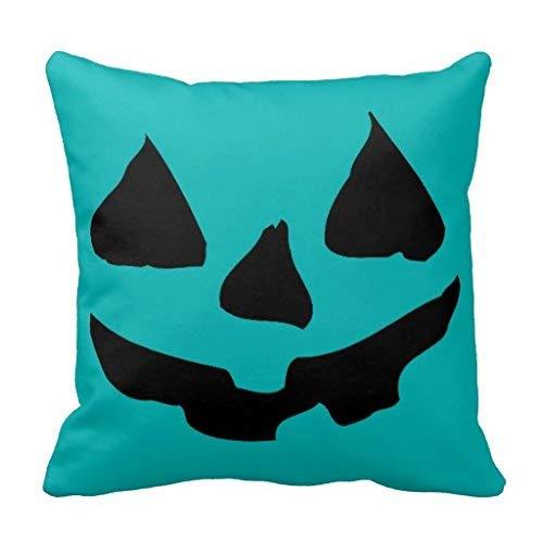 Nvfshreu Halloween Sarcelle Citrouille Jack O Lantern Oreiller Simplicité Mode Confortable Simple Style Chic Usage Quotidien (Color : Colour, Size : Size)