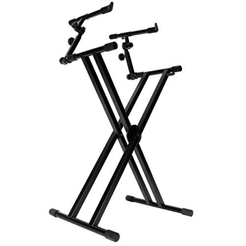 On-Stage KS7292 Doppel-X Ergo Lok Keyboard-Ständer mit 2 Ebenen