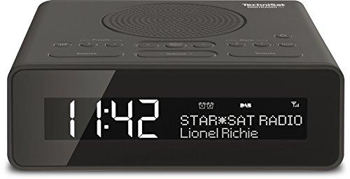 TechniSat Digitradio 51 DAB Radiowecker (DAB+, UKW, Uhrenradio, Wecker mit zwei einstellbaren Weckzeiten, Snooze-Funktion, Sleeptimer, dimmbares Display, Kopfhöreranschluss) schwarz