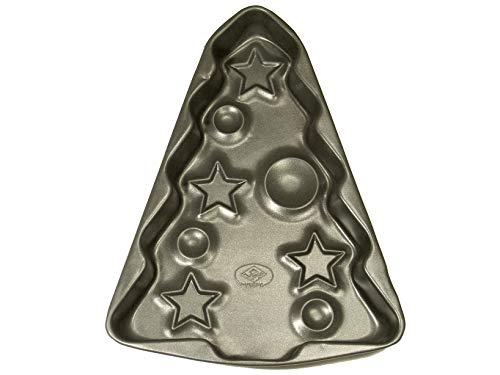 Vespa Stampo per Torte a Forma di Albero di Natale Antiaderente, Metallo, Nero, Unica