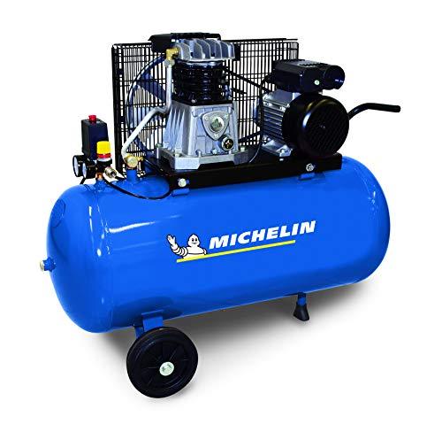 MICHELIN - Compressore d'aria MB50-B - Serbatoio da 50 litri - Motore da 2 hp - Pressione massima 10 bar - Portata d'aria 250 l/min - 15 m³/h