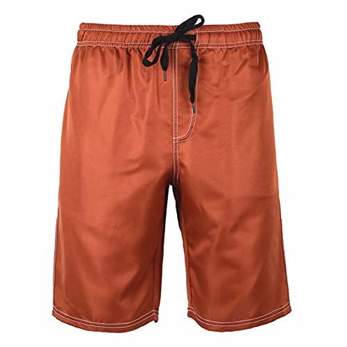 Pantalones Cortos Deportivos Casuales de Color sólido clásico de Verano para Hombre para Salir de Vacaciones, Pantalones de Playa Ligeros y cómodos para Todo Tipo M