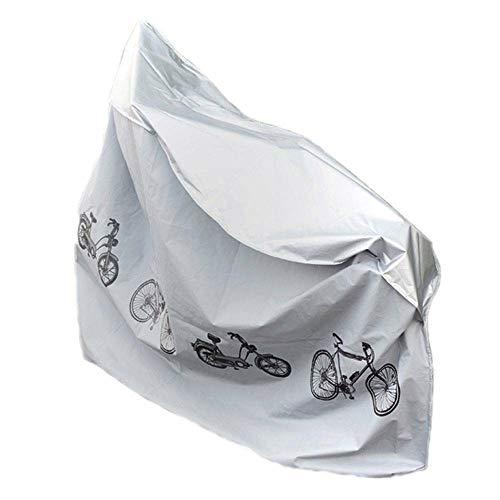 MorNon 2Pcs Lona de Bicicleta Cubierta de Lluvia para para Bicicletas para Guardar Bicicletas al Aire Libre 200CM x 110CM