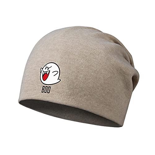 Sombrero de Super Mario Mario BOO compañero boob ghost sección delgada Baotou sombrero pila sombrero hombres y mujeres babero bufanda primavera
