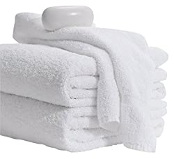 powerful MIMAATEX Basic Towel-20 × 40inch-6 Pack-White-100% Cotton-Hair / Pool / Gym Multipurpose Quick…