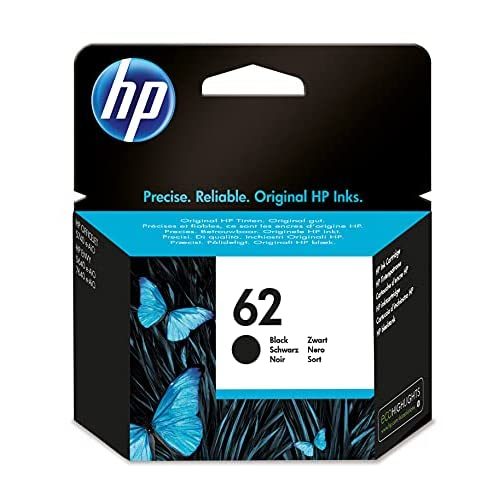 HP 62 C2P04AE Cartuccia Originale per Stampanti a Getto d'Inchiostro, Compatibile con Envy All in One 5540, 5642, 5644, 5742, 7640, l'Officejet 5740 e l'Officejet Serie 200, Nero