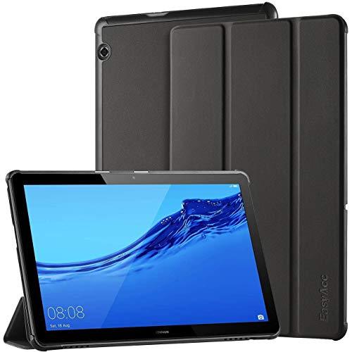 EasyAcc Hülle für Huawei Mediapad T5 10, Ultra Schlank Schutzhülle Case mit Zwei Einstellbarem Standfunktion für Huawei Mediapad T5 10 Zoll 2018, 2# Schwarz