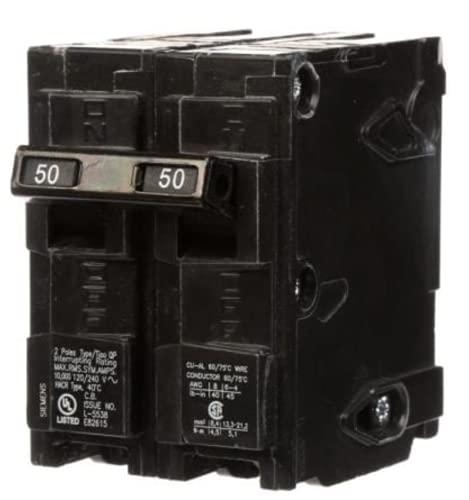 Siemens Q250 50 Amp Double Pole Circuit Breaker